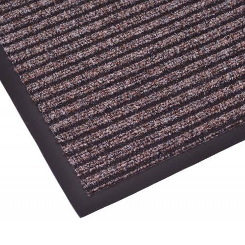 Дорожка грязезащитная на резиновой основе Lyon 0,9х25 м, коричневая
