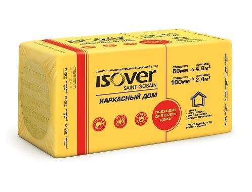Теплоизоляция ISOVER Каркасный дом (1006001000) 4шт. 2,4м2 (0,24м3), 28кг/м3